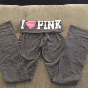 Victoria Secret PINK grey yoga pants size XS